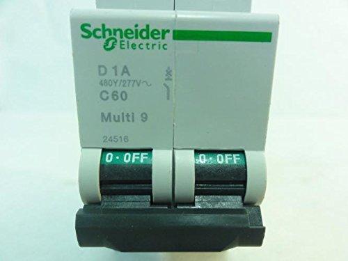 Schneider 24516 MIni Circuit Breaker, 2P, 1A, 480/277V