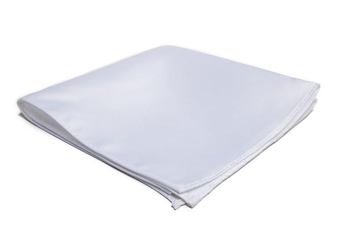 Jacob Alexander Men's Pocket Square Solid Color, White, Size One Size best pocket squares