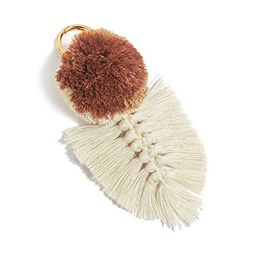 Colorful Boho Pom Pom Tassel Bag Charm Key Chain (U02 style)