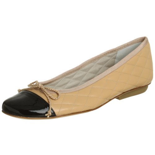 Sole NY Black Piatta in Pelle Suola FS Leather Passport French Beige Patent Donna RpEOcWdzRU
