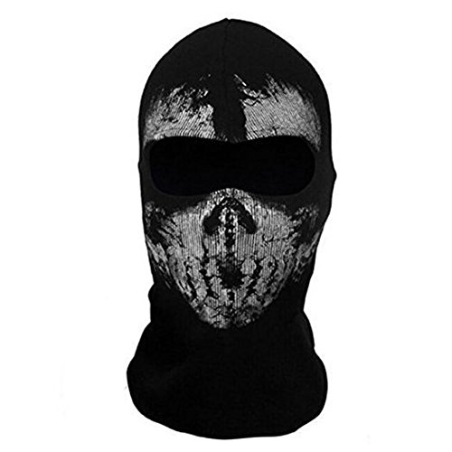 Neck mask - TOOGOO(R)Round neck mask Hood Ghost Skull -Call Of Duty Modern Warfare - Airsoft Paintball motorcycle Outdoor color # 7