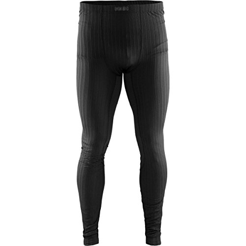 Craft Sportswear Mens Active Extreme 2.0 Lightweight Coolmax Training Tight Fit Base Layer Pants, Black, Medium