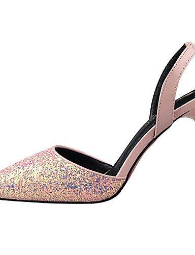 GGX/ Damen-High Heels-Kleid / Party & Festivität-PU-Stöckelabsatz-Absätze / Komfort / Spitzschuh-Schwarz / Rosa / Rot / Silber / Gold pink-us8 / eu39 / uk6 / cn39