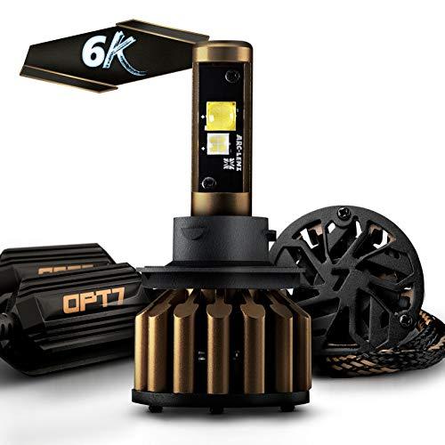 OPT7 FluxBeam X V2 H13 9008 LED Headlight Bulbs w/Arc-Beam Lens - 13,000LM 6000K Daytime White - All Bulb Sizes - 140w - 2 Year Warranty