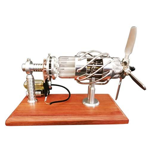 PeleusTech® 16 Cylinder Quartz Glass Cylinder Stirling Engine Hot Air Stirling Engine Scientific Physics Toy Education Stem - Quartz Cylinder