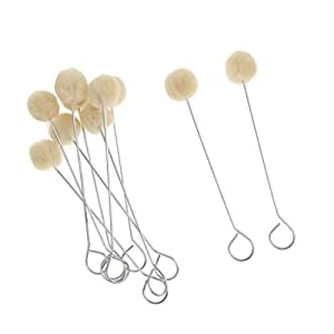 BAOBLADE 10 Pieces Wool Daubers Ball Brush Leather Dye Tool For Leathercraft DIY Crafts