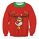 IEason Women top Ladies O-Neck Christmas Digital Printing T-Shirt Long Sleevel Tops Blouse