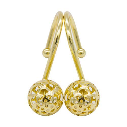 - Artown Gold Decorative Shower Curtain Hooks Rings for Bathroom Bathtubs Home Decor Accessories, Rustproof, Set of 12 Hooks for Shower Rods