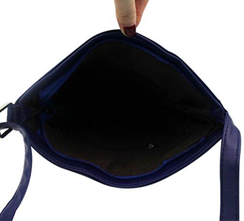 Azul al Hossty mujer hombro Bolso para qHcSwBO1