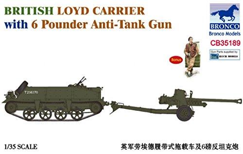 Bronco BNC35189 1:35 British Loyd Carrier with 6 Pounder Anti-Tank Gun [Model Building KIT]