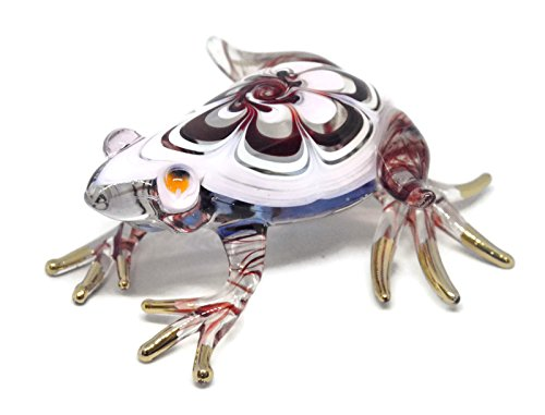 Frog Aquarium Ornament - NaCraftTH Colorful Frog Figurines Murano Glassblowing Artwork Crystal Figure Amphibian Fish Tank Aquarium Garden Decorations Ornaments