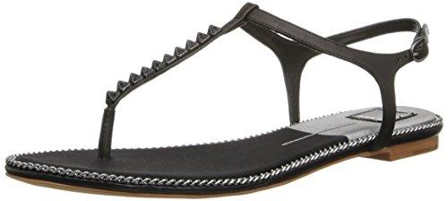 Dolce Vita Women's Ensley Dress Sandal,Black Leather,6.5 M US