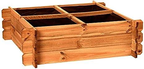Catral 31090014 - Huerto urbano Seed 80, 30 x 80 x 80 cm, madera ...