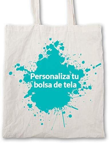 SUPERMOLON Tote bag personalizado - Bolsa de tela 100% algodón ...