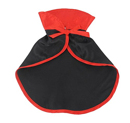 Sunrisee Pet Halloween Costumes Cute Cosplay Vampire Cloak for Small Dogs (Vampire Cat Costume)