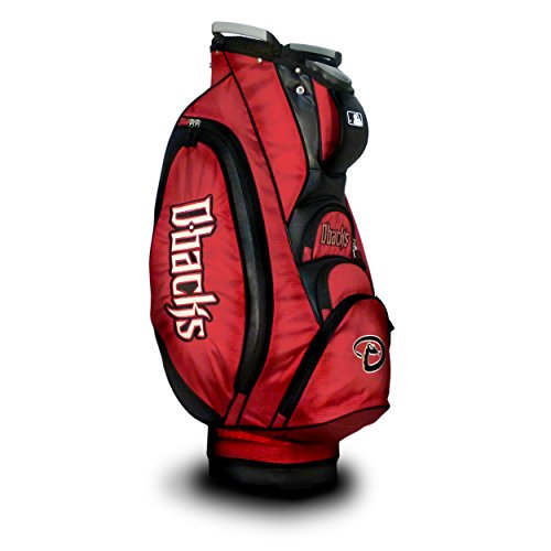 - Team Golf MLB Arizona Diamondbacks Victory Golf Cart Bag, 10-way Top with Integrated Dual Handle & External Putter Well, Cooler Pocket, Padded Strap, Umbrella Holder & Removable Rain Hood