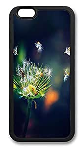 iPhone 6 Plus Cases, Dandelions Seeds Flower Petals Durable Soft Slim TPU Case Cover for iPhone 6 Plus 5.5 inch Screen (Does NOT fit iPhone 5 5S 5C 4 4s or iPhone 6 4.7 inch screen) - TPU Black