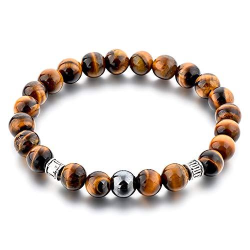 YJFNNSL Handmade Tiger Eye Beaded Bracelet Charms Distance Bracelet & Bangles Bracelet for Womens Men Bracelets