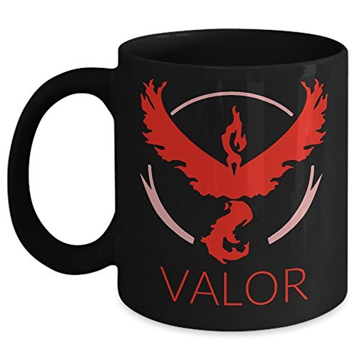 Pokemon Go Red Team Valor Coffee Mug - Great Gift for Him or Her - White 11oz Ceramic Coffee or Tea cup by MuggleGifts