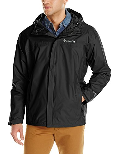 Tall Rain Gear - Columbia Men's Big & Tall Watertight II Packable Rain Jacket,Black,4X