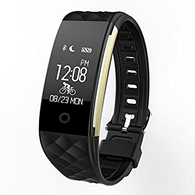 Fitness Tracker, Yarrashop Waterproof OLED Touch Screen Smart Watch Wristband with Sleep Monitor and Activity Trackers Pedometer for Outdoor Running Walking For iOS Android Smart Phone