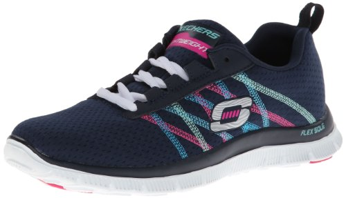 Skechers Flex Appeal Something Fun, Damen Sneakers, Blau (NVMT), 38 EU