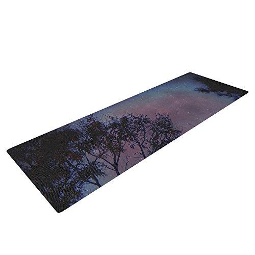 Kess InHouse Robin Dickinson 'Twilight' Yoga Exercise Mat, Purple/Tree, 72 x 24-Inch [並行輸入品]   B00T7HEIEQ