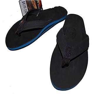 07456bc526d レインボーサンダル)Rainbow Sandal Premier Blues レザーサンダル BLACK  並行輸入品
