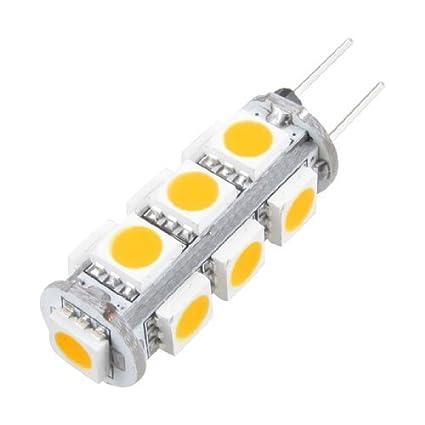 eDealMax G4 13 SMD LED Blanco cálido 5050 del Barco del coche de la lámpara Marina