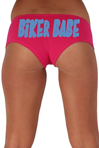 Women's Juniors Pink Biker Babe Booty Shorts Made in The USA : Black -