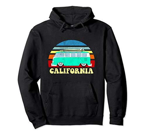 California Bus Van Beach Surfer Hoodie Sweatshirt Vintage
