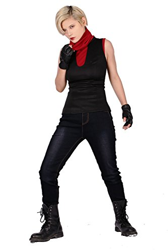 Elektra Costumes Adults (XCOSER Elektra Costume Outfit Suit for Womens Halloween Cosplay S)