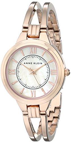 (Anne Klein Women's AK/1440RMRG Rose Gold-Tone Bangle Watch)