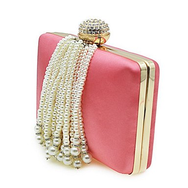 Las mujeres evento formal de poliéster/Partido Bolsa de noche de bodas,negro Blushing Pink