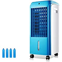 GX&XD Mini portable Air conditioner fan,Evaporative coolers With dehumidifier and fan Single-cold Air cooler Removable Air conditioner cooling fan For office dorm nightstand-A