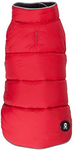 (fabdog Reversible Puffer Dog Coat Red/Black (10