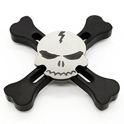 black skull spinner cigreen w3 in stainless steel by spinnerhub