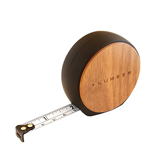 +LUMBER by Hacoa PL002-W MEASURE, Auto-stop 12ft Tape Measure with Natural Wood (Walnut) by +LUMBER by Hacoa