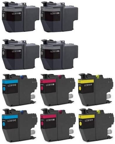 SuppliesMAX Compatible Replacement for Brother MFC-J5330//J5335//J5730//J76530//J6830DW Super High Yield Inkjet Combo Pack LC-3319XXL-4BK2CMY 4-BK//2-C//M//Y