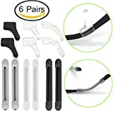 Eyeglass Retainer, [6 Pairs Multicolor Eyeglass Grips], TooCoo Spectacle Retainers, Anti-Slip Glasses Holder (3 Pairs Grips & 3 Pairs Sleeves Retainers)