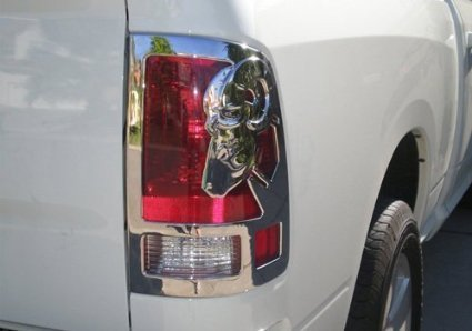 2009 -2016 Dodge Ram Big Horn Chrome Tail Light Covers