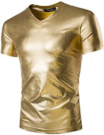 Camiseta de manga corta para hombre con cara brillante para