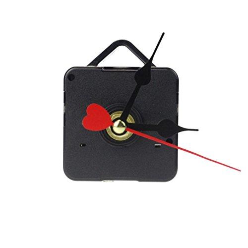 Wall Clock Movement,LtrottedJ Red Heart Hands DIY Quartz Wall Clock Movement Mechanism Repair Parts