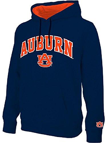 (E5 NCAA Auburn Tigers Navy Embroidered College Classic Hoodie Sweatshirt (XL=48))