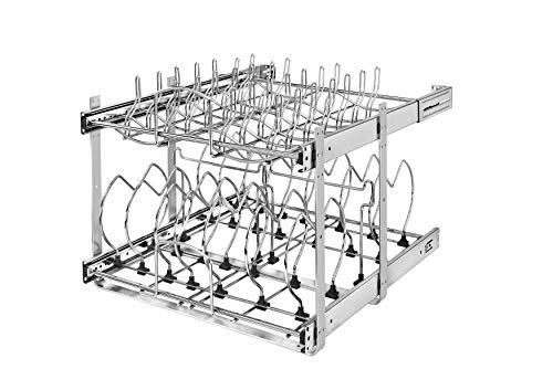 Rev-A-Shelf - 5CW2-2122-CR - 21 in. Pull-Out 2-Tier Base Cabinet Cookware Organizer]()