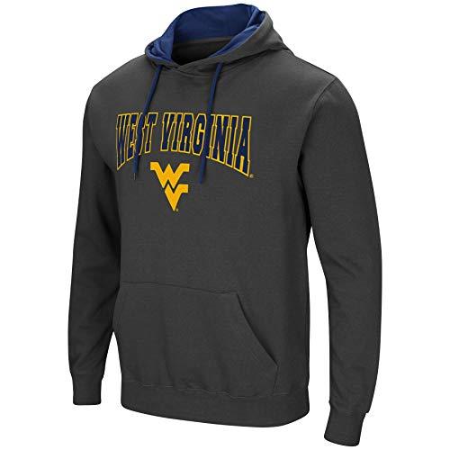 Colosseum Men's NCAA-Scoreboard-Dual Blend-Fleece Hoodie Pullover Sweatshirt-Charcoal-West Virginia Mountaineers-XL ()