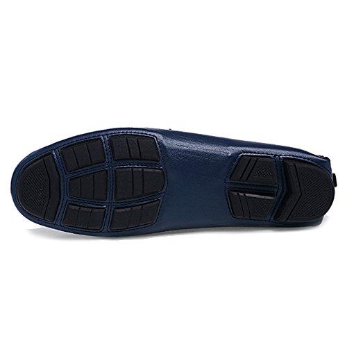 On Da Da Pelle Slip Barca Mocassini Classiche Da Uomo Blue Scarpe Piatti Da Mocassini Scarpe Passeggio MERRYHE In Calzature Guida Pq5x0T10