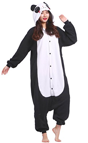 Amazon.com: Unisex Adult Animal Pajamas Plush One Piece Cosplay Panda (160-175cm): Clothing