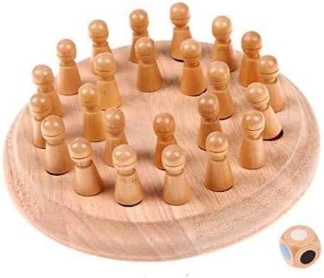 Leilims Capacidad de ajedrez Damas y Backgammon de Madera Niños Partido Memory Stick Juego de ajedrez Diversión Bloque Juego de Mesa Educativo Color cognitiva Juguete for los niños: Amazon.es: Hogar