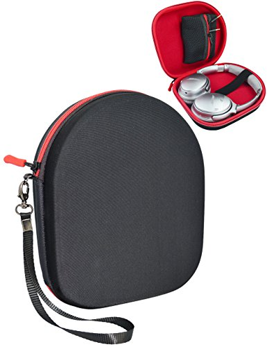 CaseSack UltraShell Headphones Carrying Case/ Travel bag for Parrot Zik, BeoPlay H2, H6, H8, Bose QC3, QC25, QC2, QC15, AE2w, AE2i, SoundTrue with Removable Zipper Pouch for Cable and Accessories